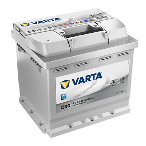 Varta Silver Dynamic 12V 54Ah 530A Jobb+ autó akkumulátor (C30) - 554400