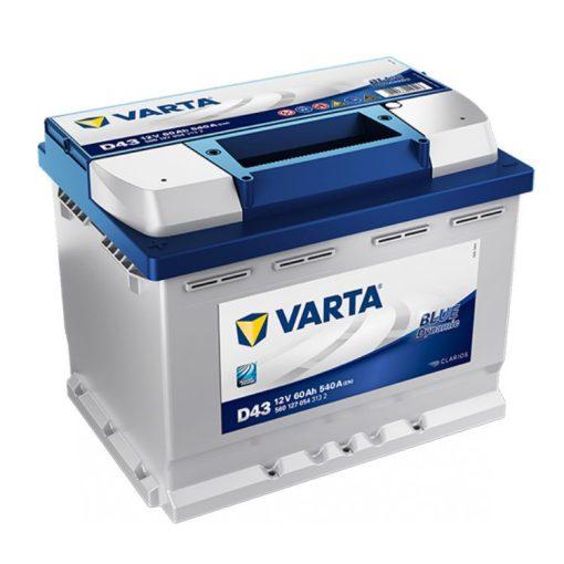 Varta Blue Dynamic 12V 60Ah 540A Bal+ autó akkumulátor (D43) - 560127