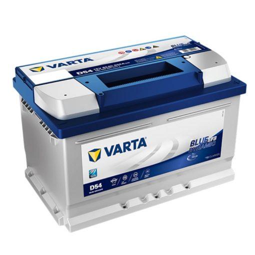 Varta Blue Dynamic EFB 12V 65Ah 650A Jobb+ autó akkumulátor (D54) - 565500