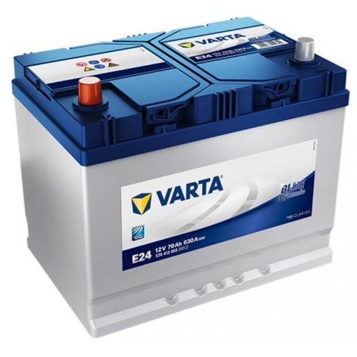 Varta Blue Dynamic 12V 70Ah 630A Bal+ ázsiai autó akkumulátor (E24) - 570413