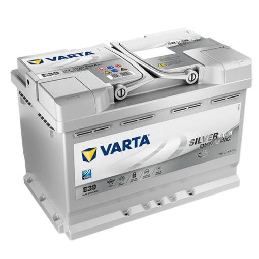 Varta Silver Dynamic AGM 70ah 760A Jobb+ autó akkumulátor (E39) - 570901