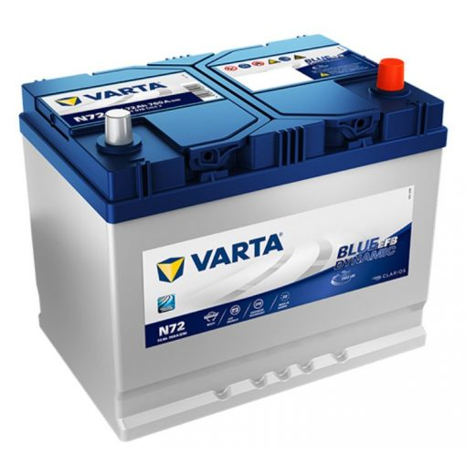 Varta Blue Dynamic EFB 12V 72Ah 760A Jobb+ ázsiai autó akkumulátor (N72) - 572501