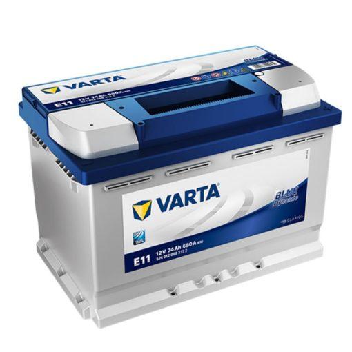 Varta Blue Dynamic 12V 74Ah 680A Jobb+ autó akkumulátor (E11) - 574012