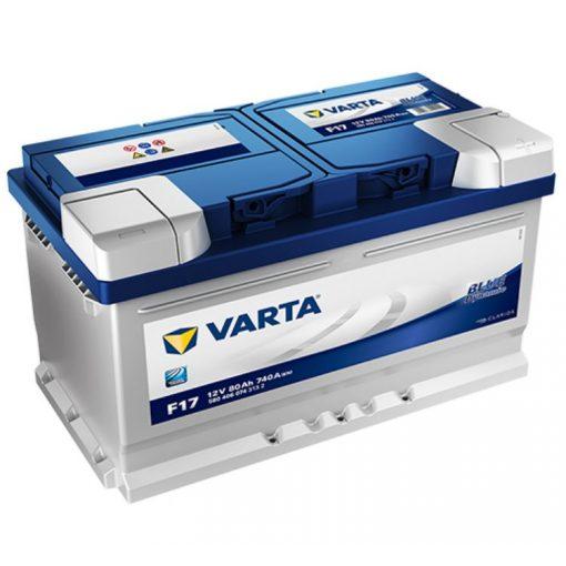 Varta Blue Dynamic 12V 80Ah 740A Jobb+ autó akkumulátor (F17) - 580406