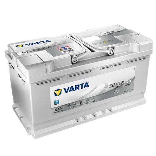 Varta Silver Dynamic AGM 95Ah 850A Jobb+ autó akkumulátor (G14) - 595901