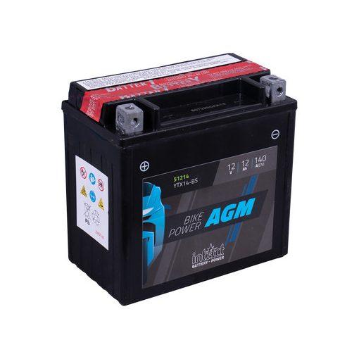 IntAct YTX14-BS 12V 12Ah 140A AGM motor akkumulátor - 512014