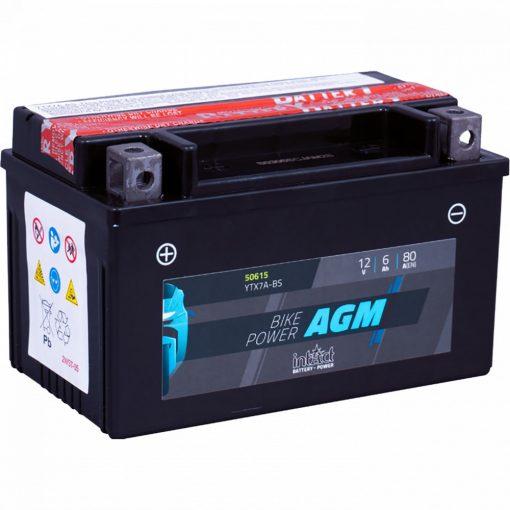IntAct YTX7A-BS 12V 6Ah 80A AGM motor akkumulátor - 506015