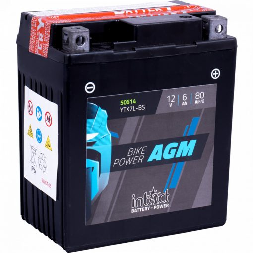 IntAct YTX7L-BS 12V 6Ah 80A AGM motor akkumulátor - 506014