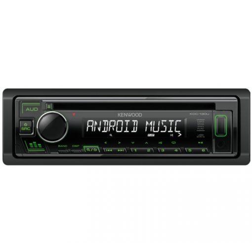 Kenwood-KDC-130UG-CD/USB-autoradio-zold-gombszin